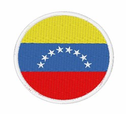Venezuela Flag embroidery design