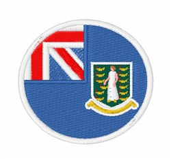 British Virgin Islands Flag embroidery design