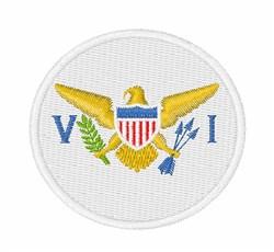 U S Virgin Islands Flag embroidery design