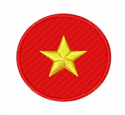 Vietnam Flag embroidery design