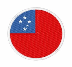 Samoa Flag embroidery design