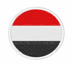 Yemen Flag embroidery design