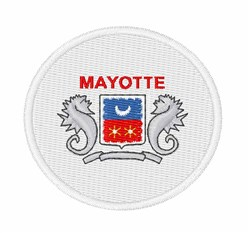 Mayotte Flag embroidery design