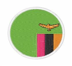Zambia Flag embroidery design
