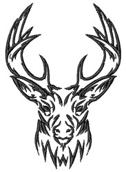 Stag Head embroidery design