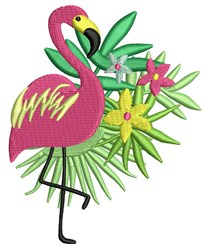 Tropical Flamingo embroidery design