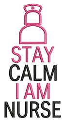 Stay Calm embroidery design