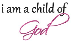 Child Of God embroidery design