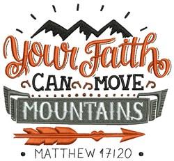 Faith Moves Mountains embroidery design