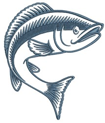 Jumping Fish embroidery design