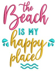 The Beach embroidery design