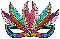Feather Mask embroidery design