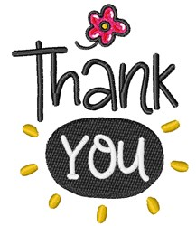 Thank You! embroidery design