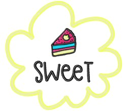Sweet Cake! embroidery design