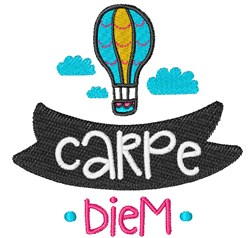 Carpe Diem embroidery design