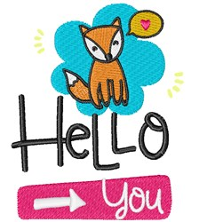 Well Hello You! embroidery design