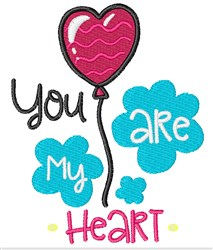 You Are My Heart embroidery design