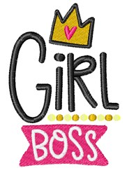 Girl Boss embroidery design