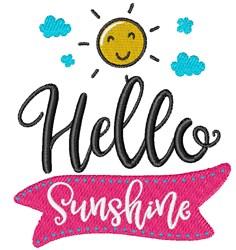 Hello Sunshine embroidery design