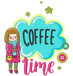 Coffee Time! embroidery design