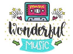 Wonderful Music embroidery design