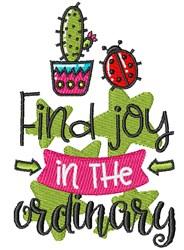 Find Joy  embroidery design