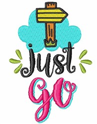 Just Go! embroidery design