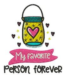 Favorite Person embroidery design