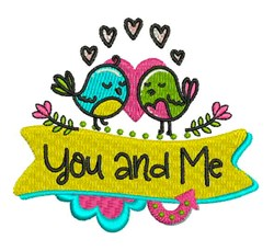 You And Me embroidery design