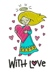 With Love embroidery design
