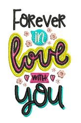 In Love embroidery design