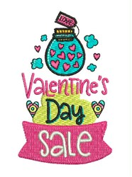 Valentines Day Sale embroidery design