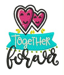 Together Forever embroidery design