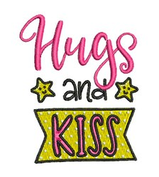 Hugs And Kiss embroidery design