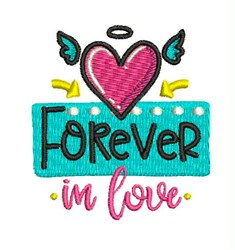 Forever In Love embroidery design