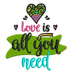 Love Is All Need embroidery design