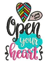 Open Your Heart embroidery design