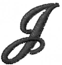 Cola Font  J embroidery design