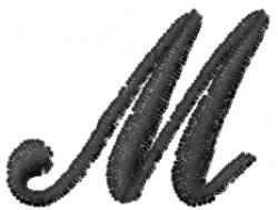 Cola Font  M embroidery design