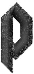 Gratitude Font  p embroidery design