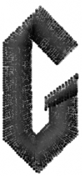 Gratitude Font  G embroidery design