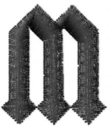 Gratitude Font M embroidery design