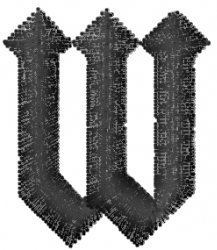 Gratitude Font  W embroidery design