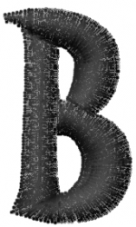 Groovy Font B embroidery design