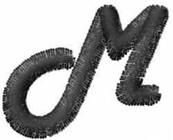 Mad Font M embroidery design