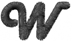 Mad Font W embroidery design
