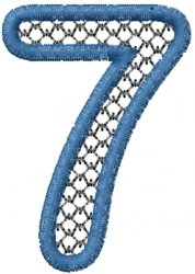 Two Color Font  7 embroidery design