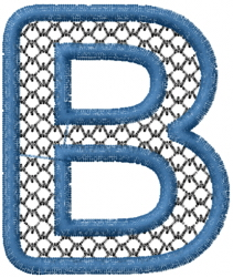 Two Color Font B embroidery design