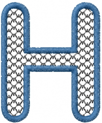 Two Color Font H embroidery design
