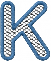 Two Color Font K embroidery design
